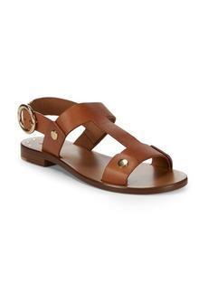 Frye Halle Rivet Leather Slingback Sandals