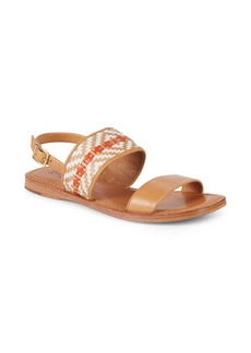 Frye Hayley Woven Leather Slingback Sandals
