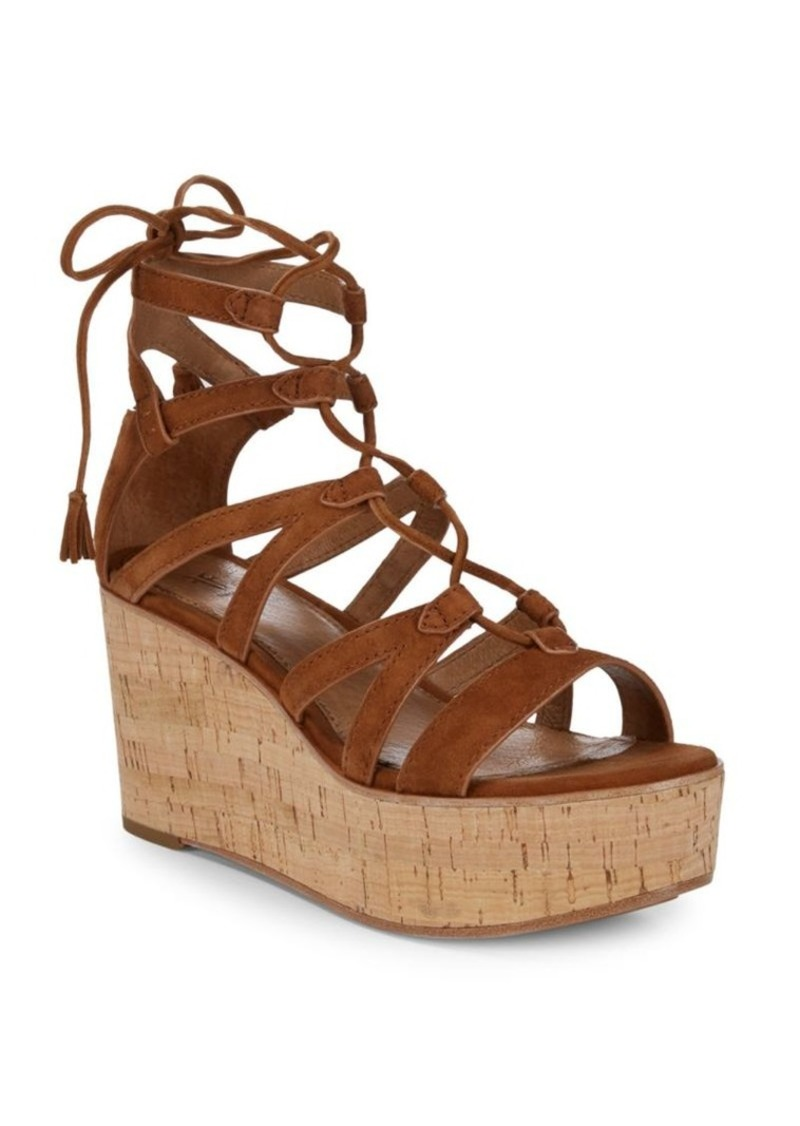 0f85a729afe Heather Suede Gladiator Wedge Sandals