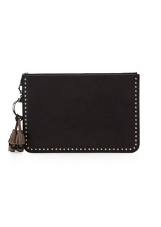 Frye Ilana Studded Leather Zip Pouch