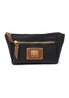 Frye Ivy Nylon Leather Trimmed Cosmetic Pouch