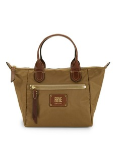 Frye Small Ivy Leather-Trim Satchel