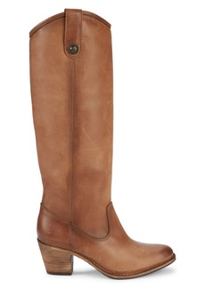 Frye Jackie Leather Knee-High Cowboy Boots