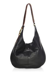 Frye Jacqui Whipstitch Leather Hobo Bag