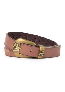 Frye Laced Leather Belt