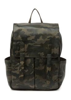 Frye Leather Camo Backpack