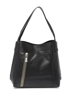 Frye Lena Zip Expandable Leather Shoulder Bag
