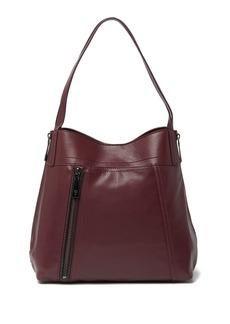 Frye Lena Zip Expandable Leather Shoulder Bag
