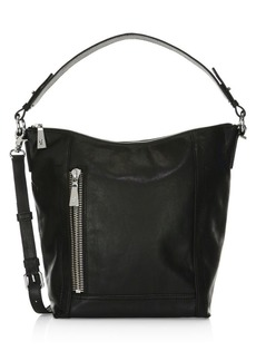 Frye Lena Zip Leather Hobo Bag
