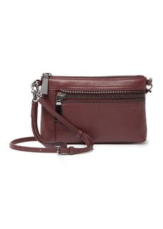 Frye Lena Zip Leather Wristlet Crossbody