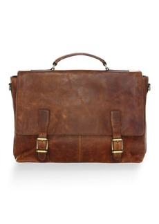 Frye Logan Leather Flap Briefcase