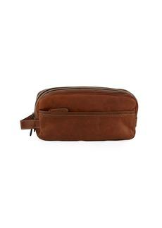 Frye Logan Leather Travel Kit  Dark Brown