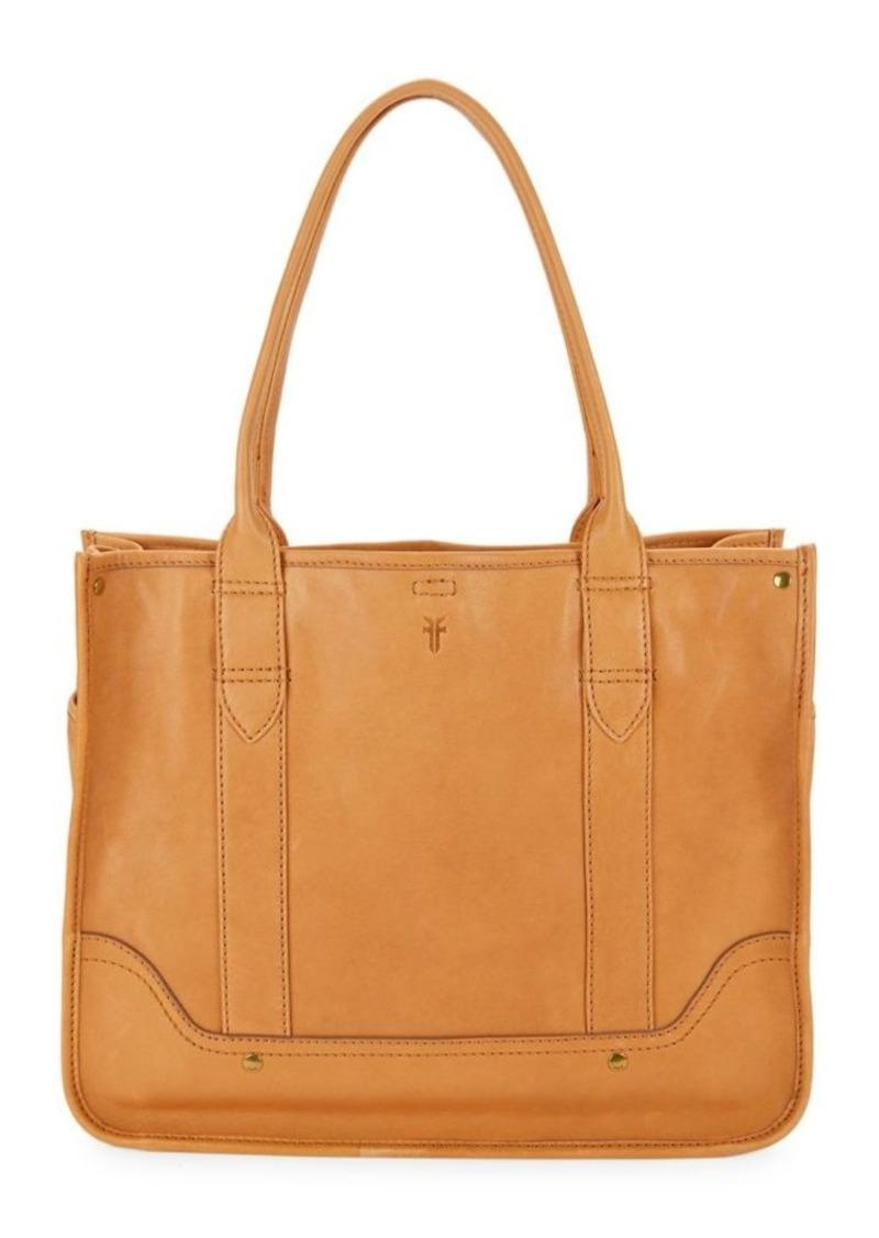 Frye Madison Leather Shopper Tote