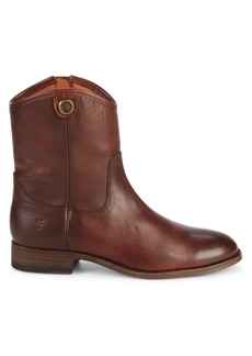Frye Melissa Button Short Leather Boots