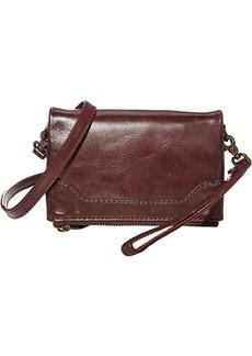 Frye Melissa Leather Stadium Bag Crossbody