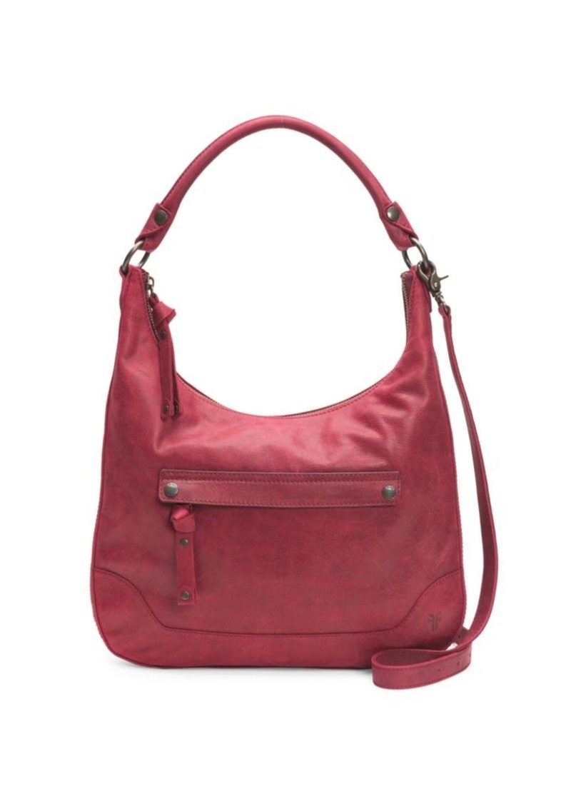 Frye Melissa Zip Leather Hobo Bag