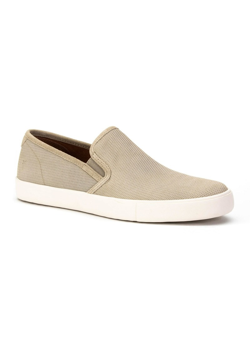 Frye Men's Brett Perforated Leather Slip-On Sneakers