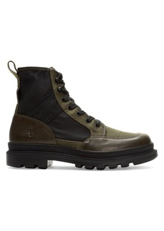 Frye Scout Leather & Canvas Boots