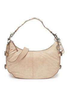 Frye Sindy Buckled Leather Hobo Bag