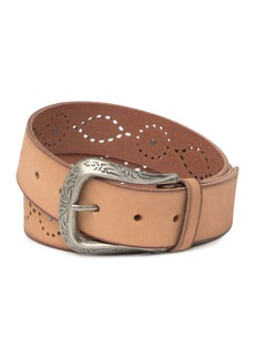 Frye Studded Leather Western Belt