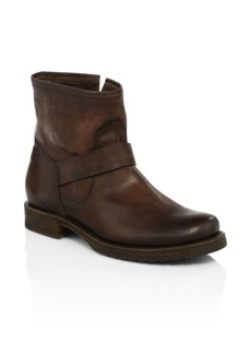 Frye Veronica Bootie Redwood Leather Moto Boots