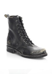 Frye Veronica Distressed Leather Combat Boots
