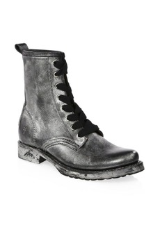 Frye Veronica Leather Combat Boots