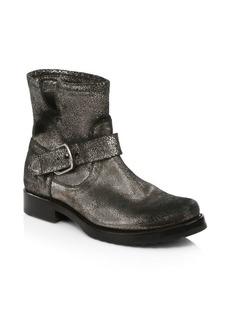 Frye Veronica Metallic Leather Booties