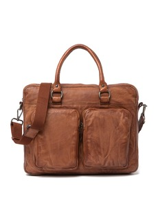 Frye Washed Attache Leather Messenger Bag