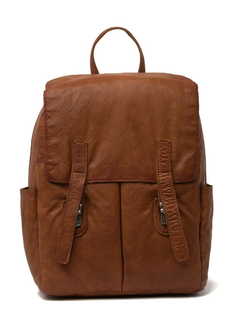 Frye Washed Leather Backpack