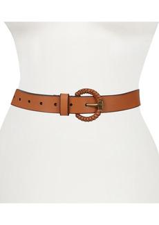 Women's Frye Woven Buckle Leather Belt