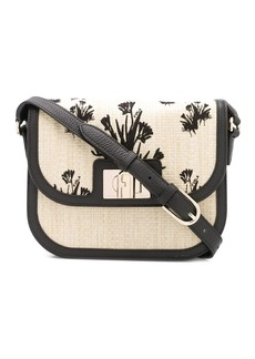 Furla 1927 floral embroidered crossbody bag