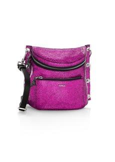 Furla Arcobaleno Metallic Leather Crossbody Bag
