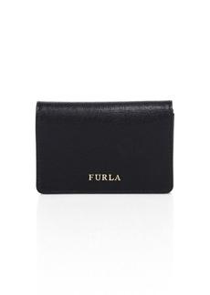 Furla Babylon Leather Business Card Case