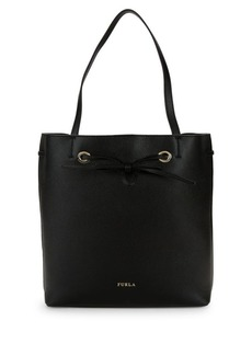 Furla Bow Detail Leather Tote