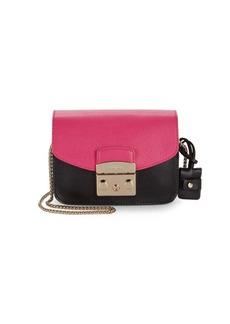 Furla Colorblock Leather Mini Crossbody Bag