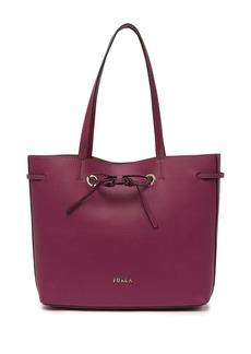 Furla Costanza Drawstring Leather Tote Bag