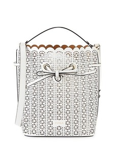 Furla Costanza Perforated Leather Bucket Bag