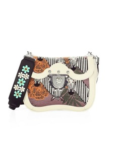 Furla Ducale Embroidered Crossbody Bag