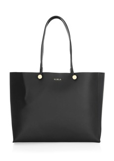 Furla Eden Smooth Leather Logo Tote