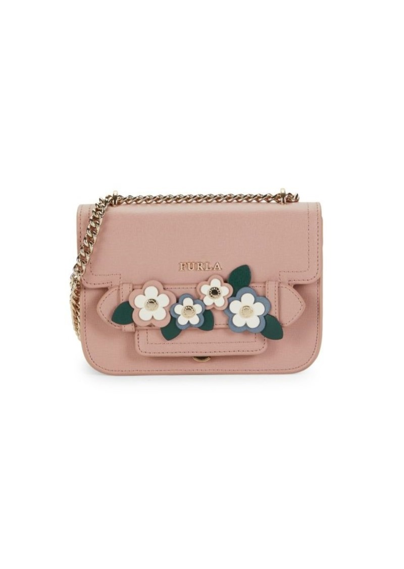 Furla Embellished Leather Crossbody Bag