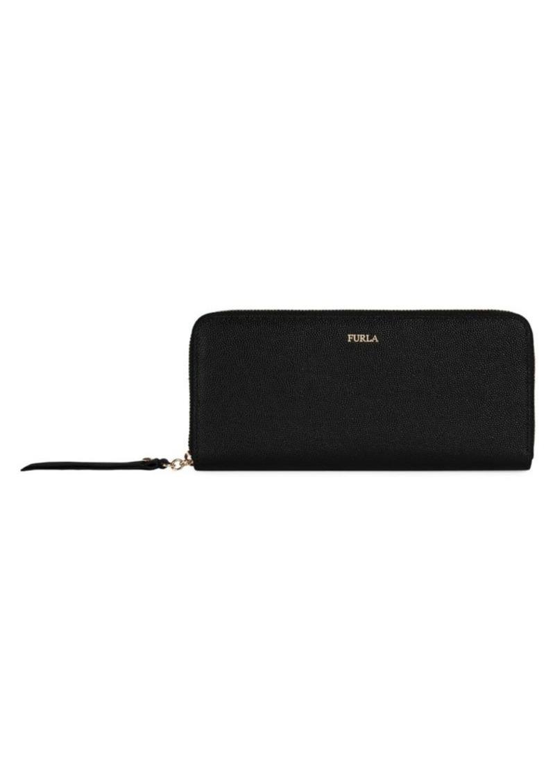 Furla Extra-Large Mimi Zip-Around Leather Wallet