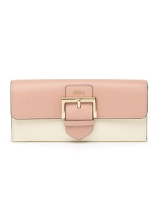 Furla Flo XL Buckle Flap Leather Wallet
