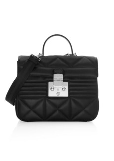 Furla Fortuna M Quilted Leather Top Handle Bag