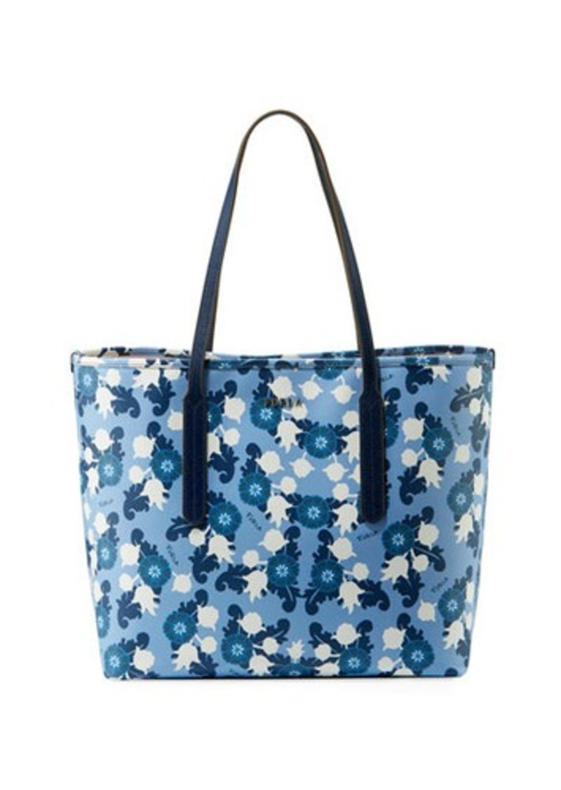 b74af1423e66 SALE! Furla Furla Ariana Medium Floral-Print Leather Tote Bag