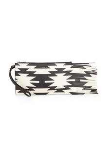 Furla Babylon Aztec-Print Leather Wristlet
