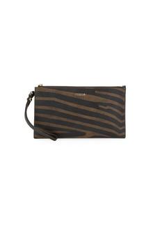 Furla Babylon Zebra-Print Leather Wristlet