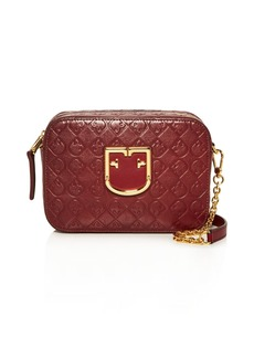 Furla Brava Logo-Embossed Leather Crossbody