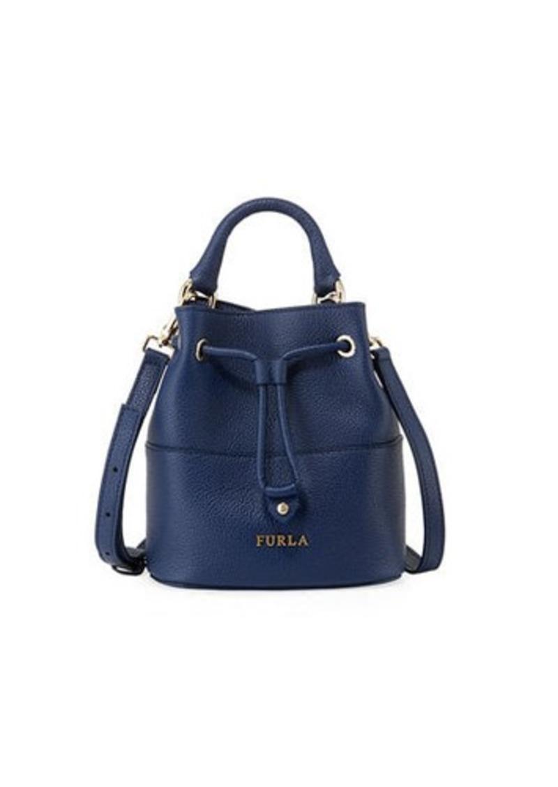 Furla Brooklyn Mini Leather Drawstring Bucket Bag