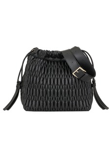 Furla Caos Quilted Leather Bucket Bag